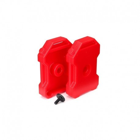 2 TANICHE BENZINA ROSSE per TRX-4 Defender - TRAXXAS TRX4-8022