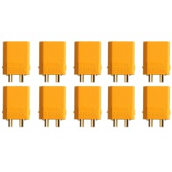 10 CONNECTORS XT30 MALE - TO- AMASS
