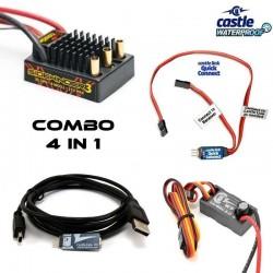 Combo ESC Sidewinder SV3 + CC BEC 10A + QUICK CONNECT + Castle Link - CASTLE CREATION