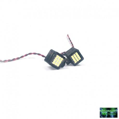 2 FANALI QUADRATI 18 LED MSD - Powershift RC PST-LED18Q