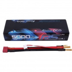 LiPo battery 5000mAh 7.4 v 2s 100c RS HARDCASE - GENS ACE