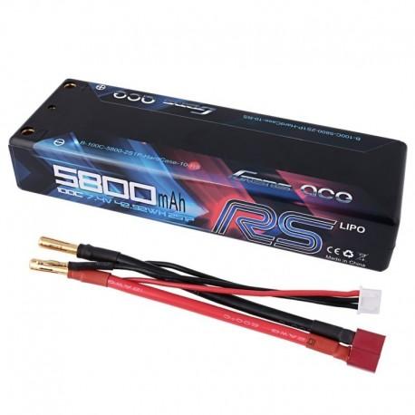 Batteria LiPo 5800mAh 7.4v 2s 100c RS HARDCASE - GENS ACE B-100C-5800-2S1P-HardCase-10-RS