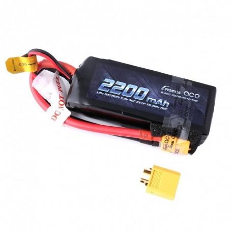 Batteria LiPo 2200mAh 7.4v 2s 50C XT60 - GENS ACE B-50C-2200-2S1P-TRX