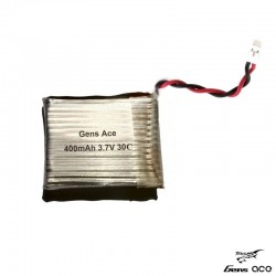 Batteria LiPo 400mAh 3.7v 1s 30C - GENS ACE B-30C-400-1S2P