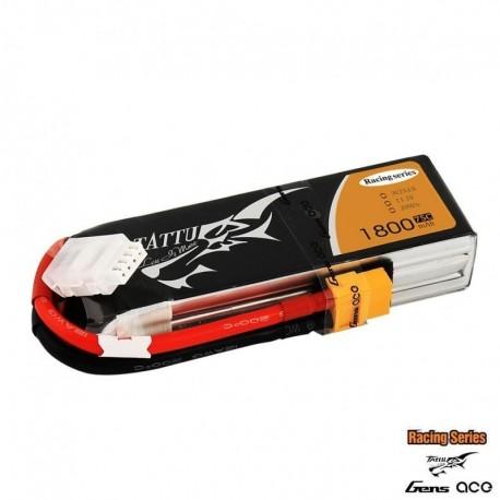 Batteria LiPo TATTU 1800mAh 11.1v 3s 75c RS - TATTU TA-75C-1800-3S1P-R