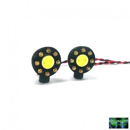 2 FANALI Night Killer TONDI ULTRA LED SMD con Bulloni - Powershift RC PST-LED1GT