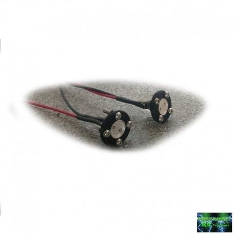 2 FANALI TONDI ULTRA LED SMD ROSSI con Bulloni - Powershift RC PST-LED1PRT