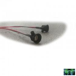 2 FANALI TONDI CONICI ULTRA LED SMD ROSSI con Bulloni - Powershift RC