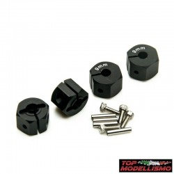 Hexagons pad holder 9mm BLACK - TM