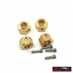 WEIGHTS HEXAGONS pad holder L. 8MM BRASS for TRX-4 Defender - TM