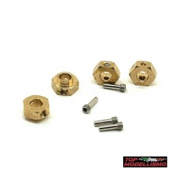 WEIGHTS HEXAGONS pad holder L. 5MM BRASS for TRX-4 Defender - TM