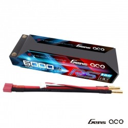 LiPo battery 6000mAh 7.6 v 2s 100c High Voltage RS HARDCASE - GENS ACE