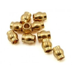 10 HOLLOW SPHERES in BRASS 5.8 mm - SAMIX