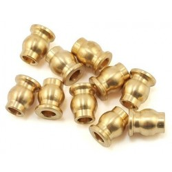 10 HOLLOW SPHERES in BRASS 5.8 mm Flanged - SAMIX