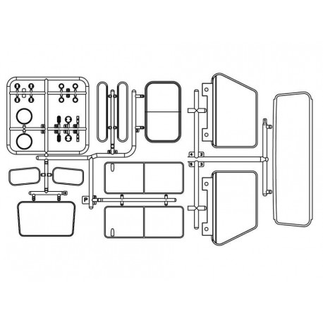 Set vetri per Carrozzeria DEFENDER D90 - TRC TRC-302223C