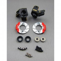 WEIGHTS BRASS black (bk) and DISC Hubs in the Front for AXIAL SCX10-2 - SAMIX