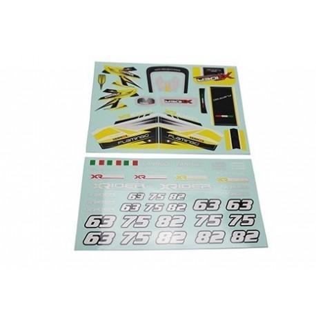 Kit Adesivi Carrozzeria Flamingo (2 Colorazioni Selezionabili) - XRider XR-FG8044