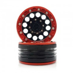 4 Rims 1.9 aluminium-RED-BLACK - TM