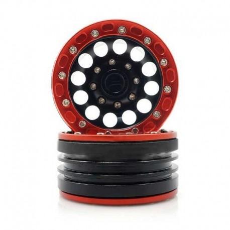 4 Cerchi 1.9 in alluminio ROSSO-NERO - TM TM-C010128