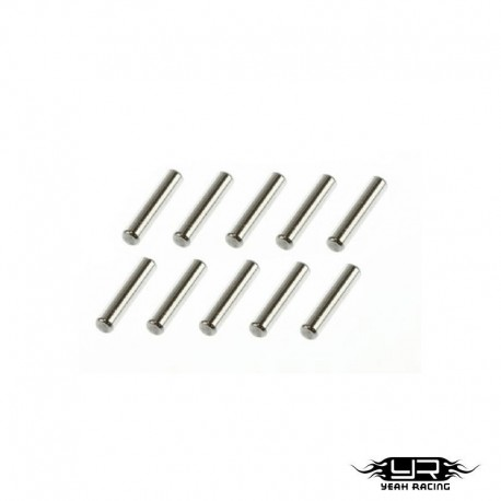 Pin in acciaio 2x10mm - YEAH RACING PIN-210